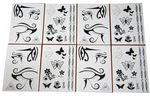 36 x Body Rock Face & Body Tattoo | 2 designs | Wholesale Job Lot